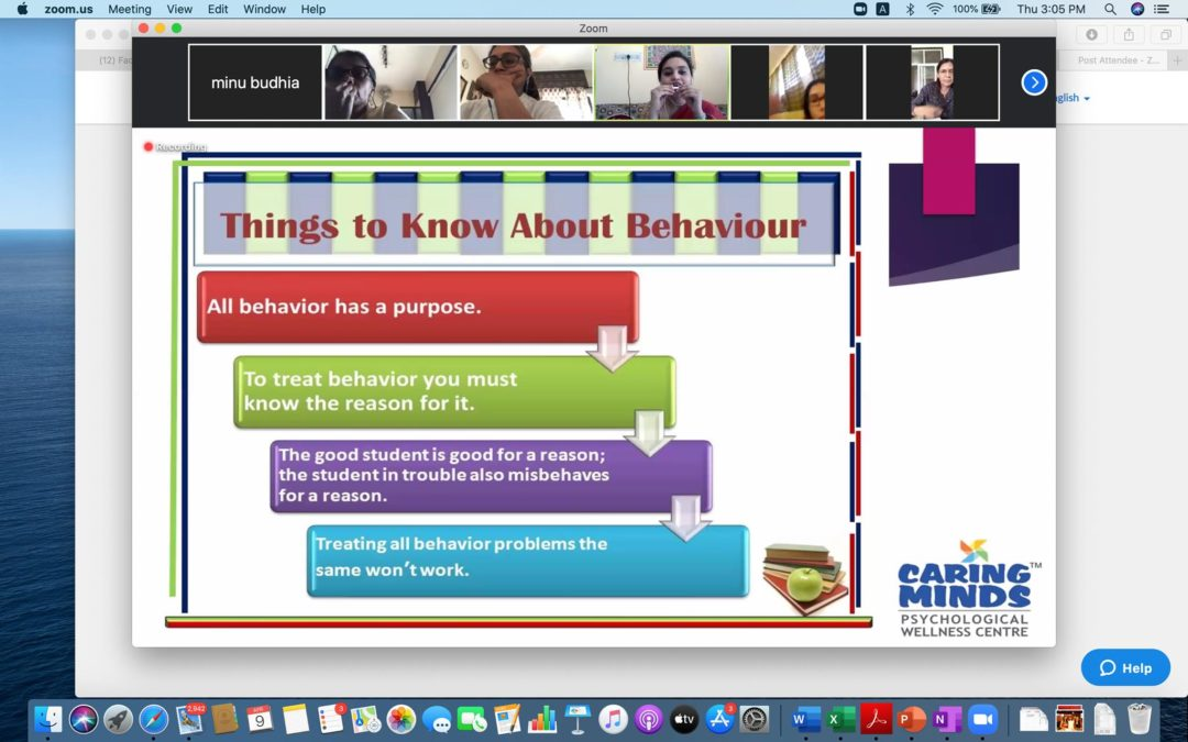 Workshop on Managing Challenging Behaviour in the classroom
